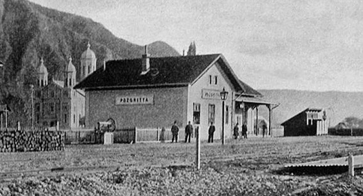 Gara Pozoritta (Pojorâta), la 1903